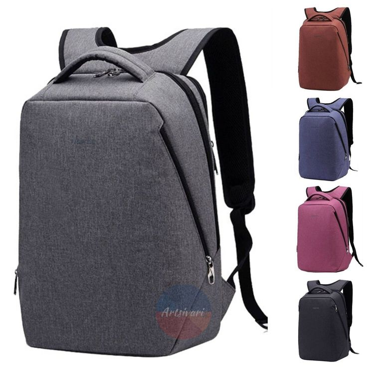 "Stylish 14"" or 17"" Laptop Business Computer Backpack Travel Waterproof Nylon Bag…"