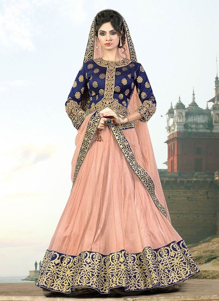 Buy Ae Dil Hai Mushkil Peach Umbrella Lehenga online, SKU Code: GHSMV6914. This Peach color Wedding a line lehenga for Women comes with Resham Net . Shop Now!
