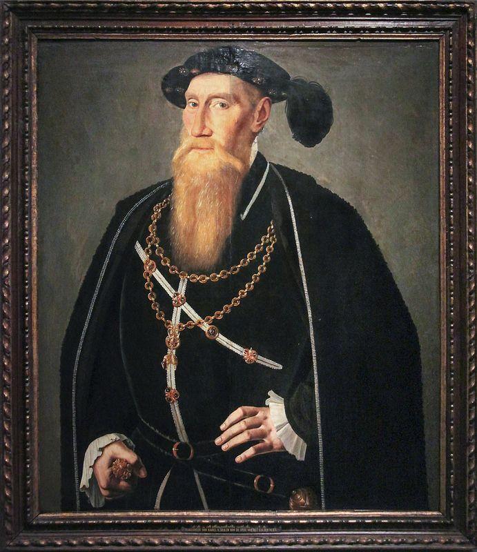 Portrait of Reinoud III of Brederode, Jan van Scorel, c. 1545 | da Kotomi_