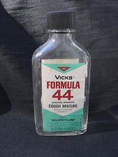 1950s Vick's  Formula 44 cough syrup..YUCK Back in the day it contained codeine!....Yes! Codeine!