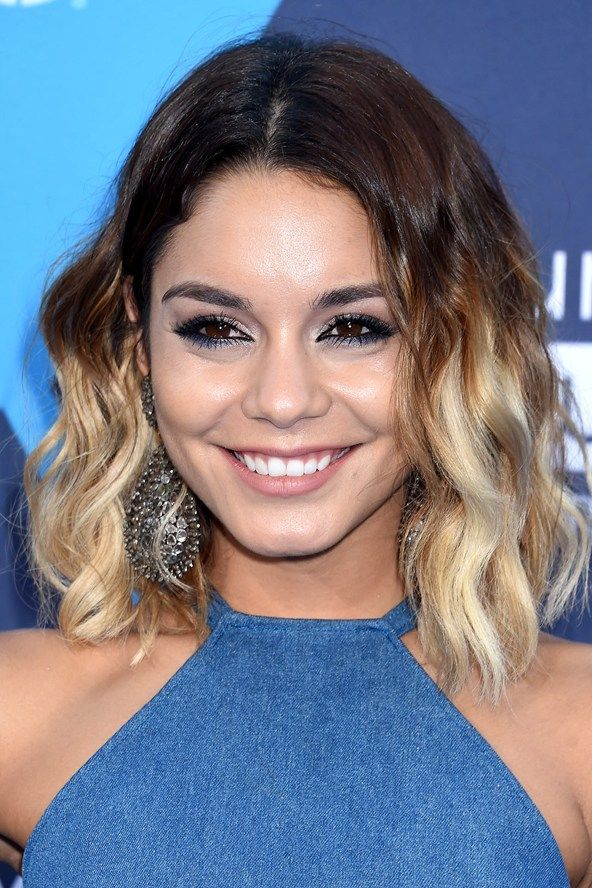 dip dye short hair styles hudgens ombre hair 2014 celebritiesinview 3959 | 77f30c136661844369f62c4e5e77036d mid length hair shoulder length hair