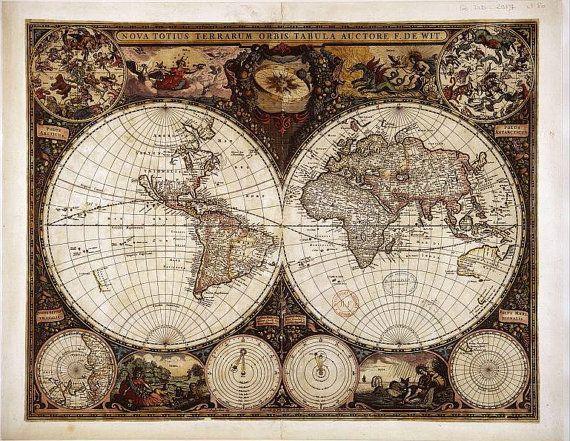 26 best географические карты для декупажа images on Pinterest - new antique world map images