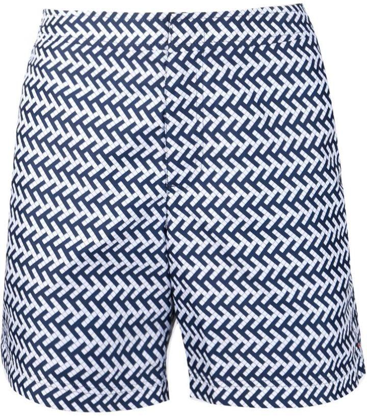 Orlebar Brown mosaic print swim shorts