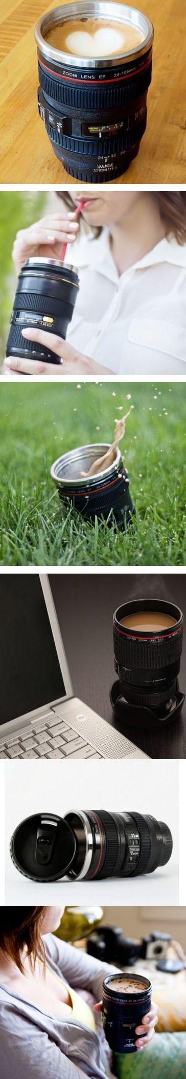 Camera Lens Coffee Mug ♥ L.O.V.E. this!