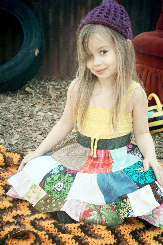Bohemian Flower Girl Dress: Custom Made Poor Pitiful Pearl Kids Add an by poorpitifulpearl, $22.00