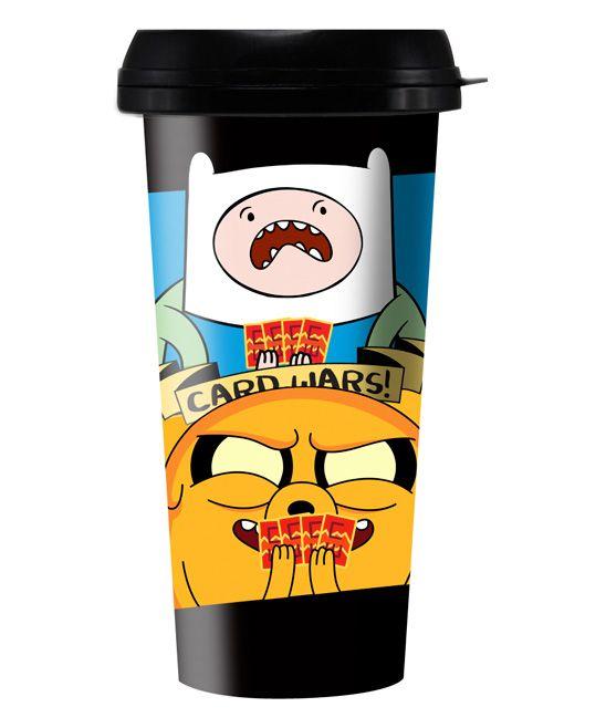 Card Wars Finn & Jake Adventure Time 16-Oz. Travel Mug