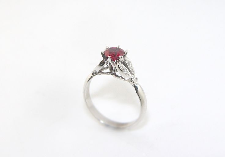 Ruby and Diamond Engagement ring. Be unique to who you are diamonds aren't for everybody!!