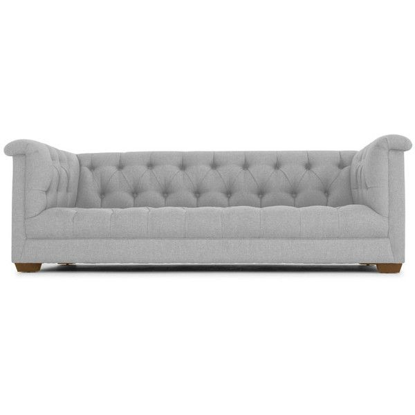 elias tufted sofa liked on polyvore featuring home furniture - Grey Tufted Sofa