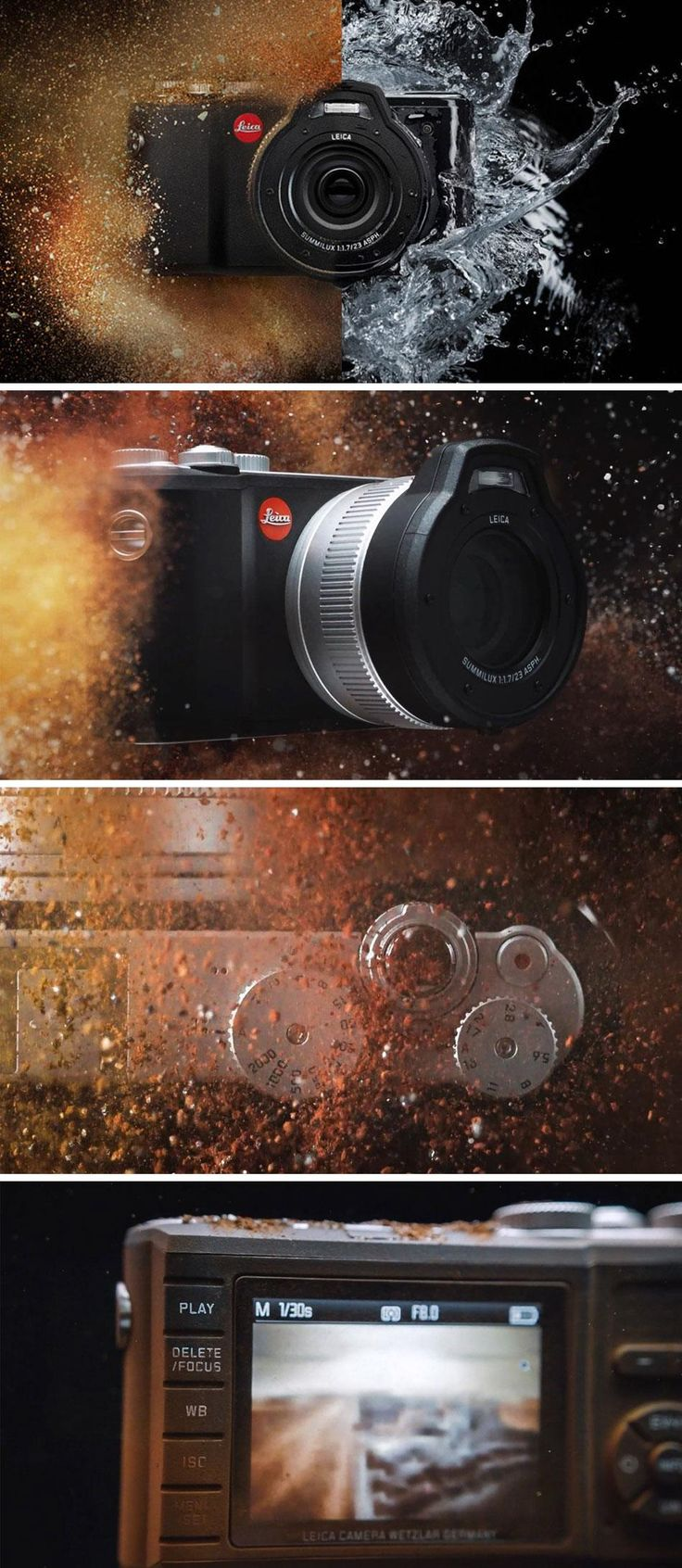 The Leica X-U camera is both rugged and waterproof while still featuring a beautiful design
