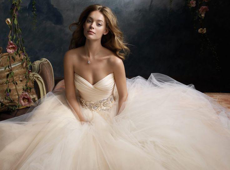 lazaro wedding dresses blush