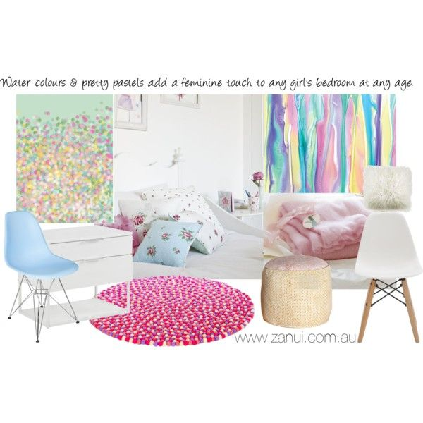 """""""Pastels for bedrooms"""" by stylecounsel & changing rooms on Polyvore"""