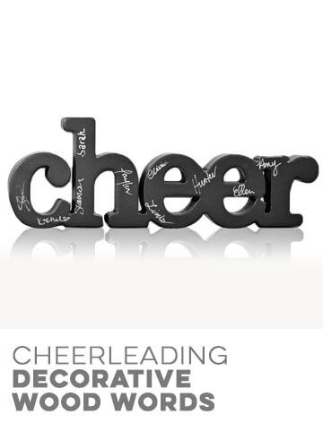 Cheerleading Decorative Wood Words