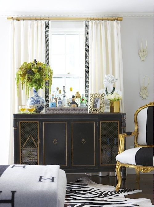 Styled by Duchy. Home of Elements of Style Blog | A Black and Blue Room | http://www.elementsofstyleblog.com