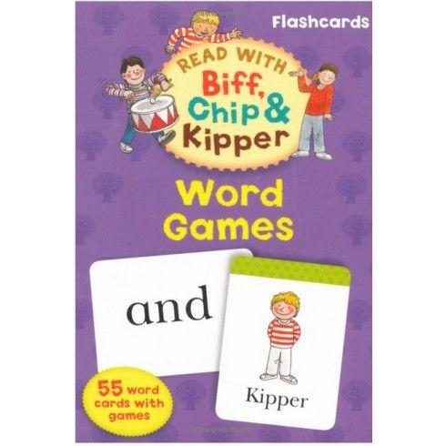 Juegos de palabras (leer con Biff Chip & Kipper) ¡Los niños aprenden mejor cuando se divierten! Estas naipes pueden ser una forma divertida de aprender a leer las palabras más comunes en nuestro lenguaje y cómo se utilizan en las oraciones. Todos los juegos y actividades que se sugieren en este juego Flashcard se puede jugar con un adulto o un niño mayor, junto con uno o dos niños más pequeños.