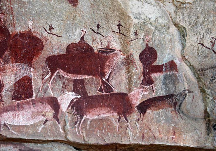 San Bushmen African Rock Art  Dakensberg Mountains