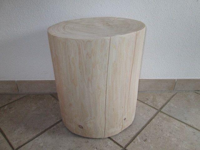 Hocker - Nr.232, Baumstamm Hocker 36cm x 32cm x 43cm - ein Designerstück von…