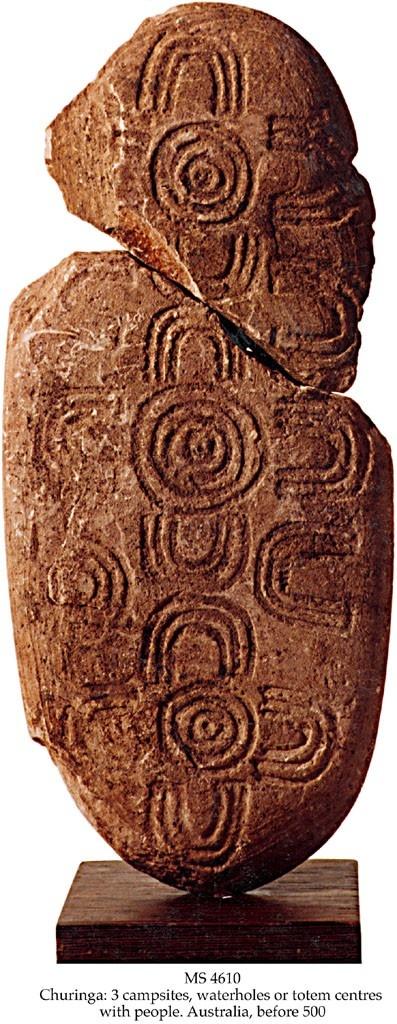 Ancient Churinga, from the Central Desert area, Australia