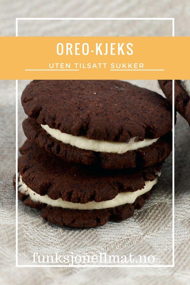 Oreo-kjeks - Funksjonell Mat | Oreo oppskrift | Sukkerfri | Sukrin | Dessert sjokolade | Oppskrift kjeks | Sunne kjeks | Oppskrift uten sukker | Sugar free cookies