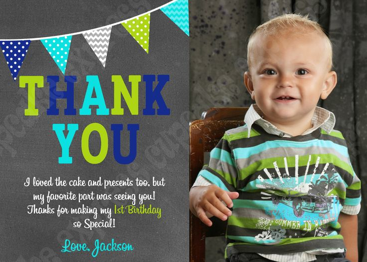 Best 25 Personalized thank you cards ideas – Personalised 1st Birthday Thank You Cards