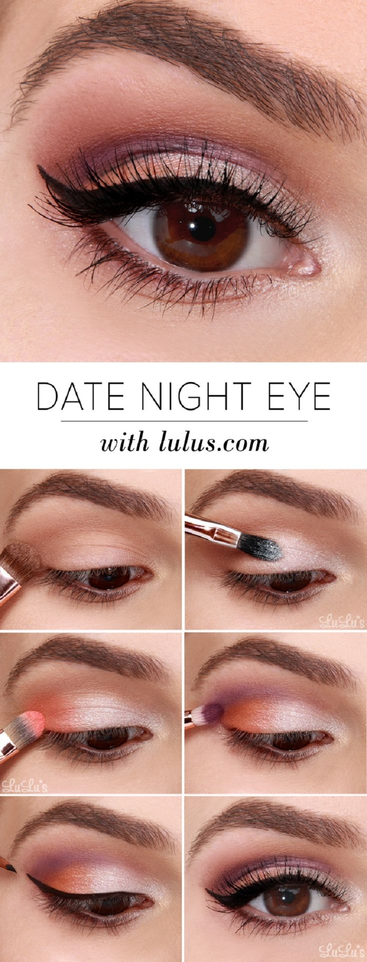 Date Night Eyeshadow Tutorial - 16 Makeup Tutorials to Get the Spring 2015 Look | GleamItUp