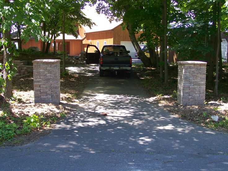 Driveway Entrance Pillars : Images about driveway lights on pinterest entrance