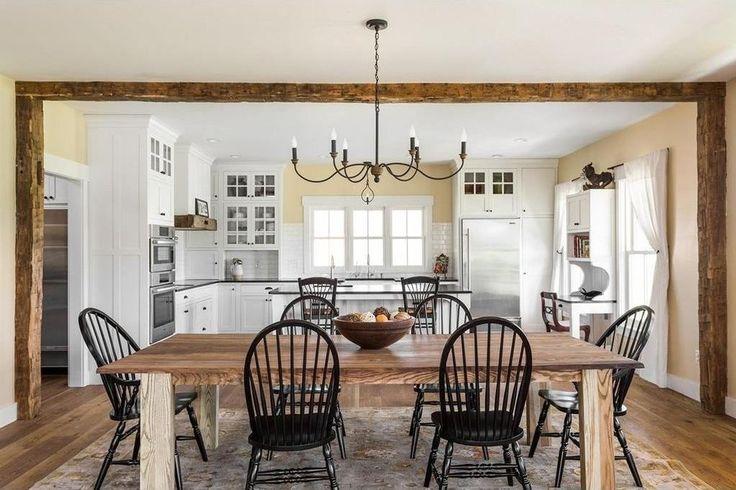 White kitchen via A Modern Farmhouse For Sale in Indiana