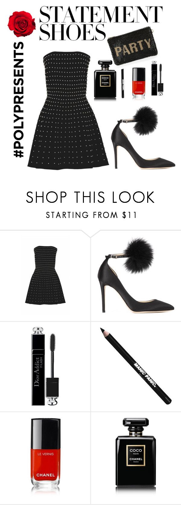 """Wow! Statement Shoes"" by sahaja123 ❤ liked on Polyvore featuring Esme Vie, Jimmy Choo, Christian Dior, Manic Panic NYC, Chanel and Mary Frances Accessories"