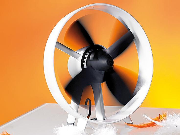 "infactory Tisch Ventilator ""Streamline"" im Turbinen Design"