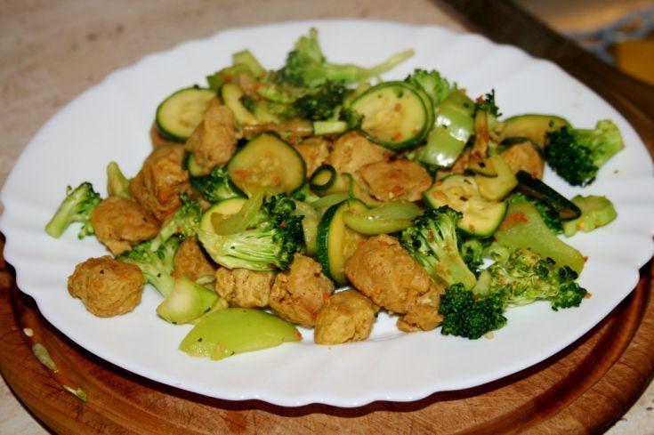Sojové kocky so zeleninou