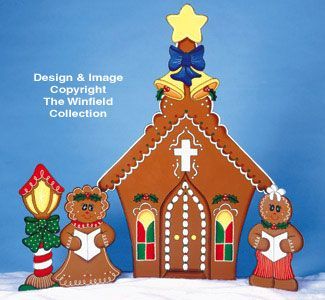 1000 images about christmas yard decorations wood on for Gingerbread house outdoor decorations