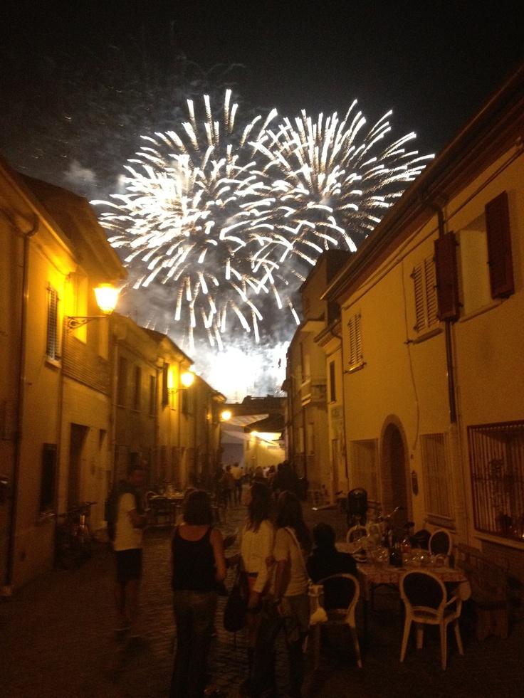 Fuochi sul Borgo San Giuliano