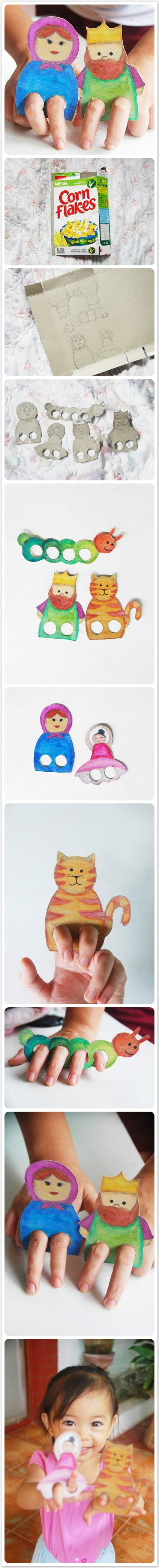 Cardboard Finger Puppets-We Like Craft