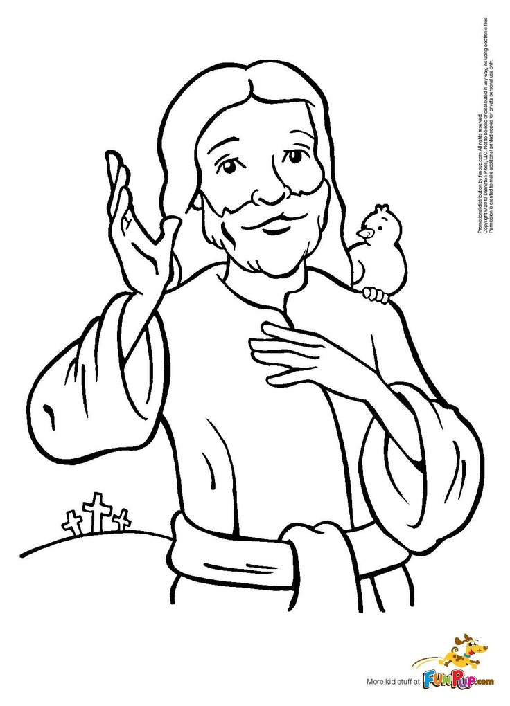 jesus caring coloring pages - photo#37