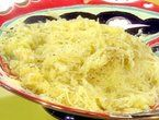 Spaghetti Squash w/ butter, salt, grated parm. (Roast at 400 on a pan for 1hr, then chop in half and scoop out seeds)