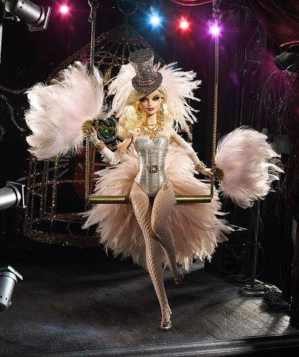 """Sharon Zuckerman's OOAK Barbie doll """"Cat's Meow"""""""