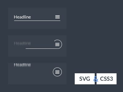 SVG CSS3 Menu icon animation by Aaron Iker