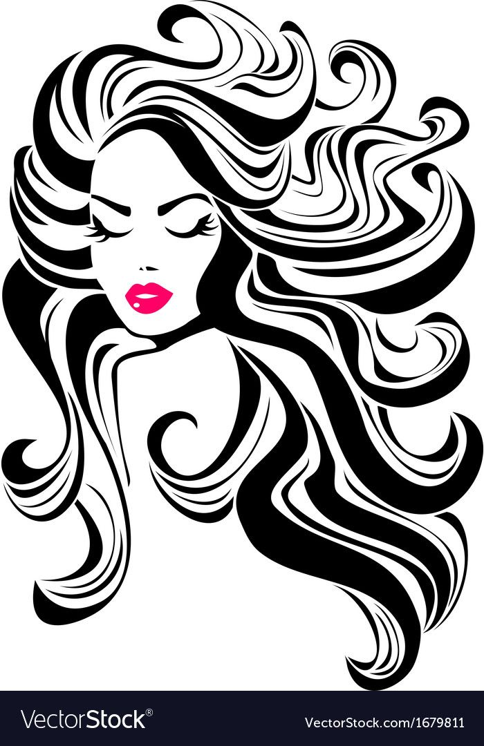 Beautiful Girl With Curly Hair And Pink Lips Download A Free Preview Or High Quality Adobe Illustrator A Garden Rock Art Pop Art Drawing Beautiful Fantasy Art