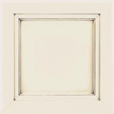 Thomasville 14.5x14.5 in. Raleigh Cabinet Door Sample in Cotton with Amaretto Creme-772515399312 - The Home Depot