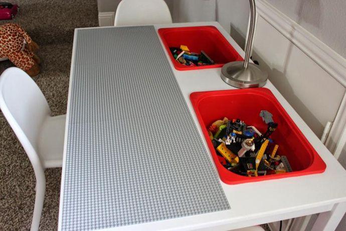 Sie kauft einen IKEA-Tisch und sägt darin zwei Löcher … Ihre Kinder finden es fantastisch! - DIY Bastelideen