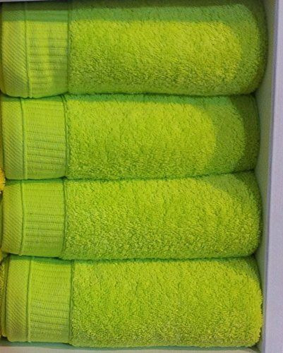 BRIGHT LIME GREEN 550GSM 100% EGYPTIAN COTTON 6 PIECE TOWEL BALE SET 2x HAND TOWELS & Best 25+ Green towels ideas on Pinterest | Green bathroom decor ...