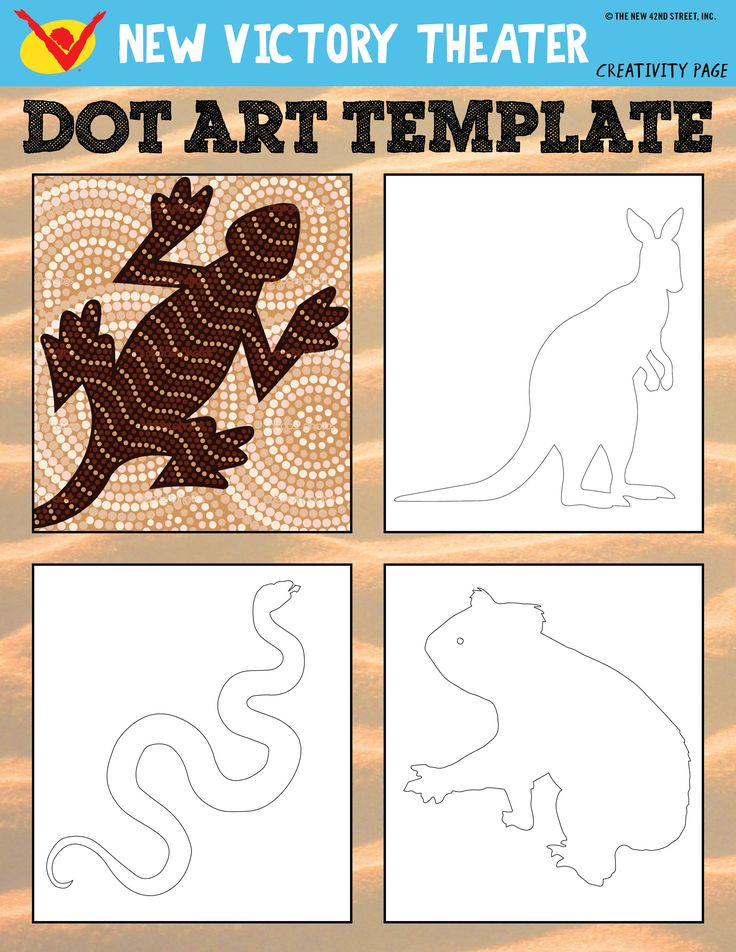 Learn about traditional Aboriginal art and try it out yourself with this printable worksheet inspired by SALTBUSH at the #newvic!