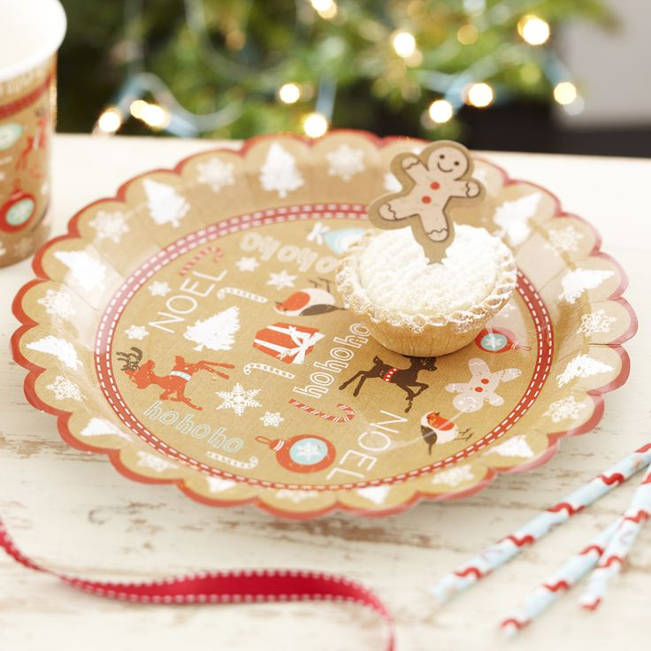 A Vintage Noel Christmas Party Plates from Pink Frosting Christmas Shop