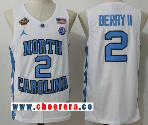 Men's North Carolina Tar Heels #2 Joel Berry II White Final Four Patch College Basketball 2017 Brand Jordan Swingman Stitched NCAA Jersey
