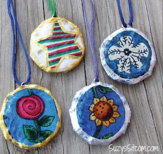 How to make Pretty Pendants made from Cardboard!