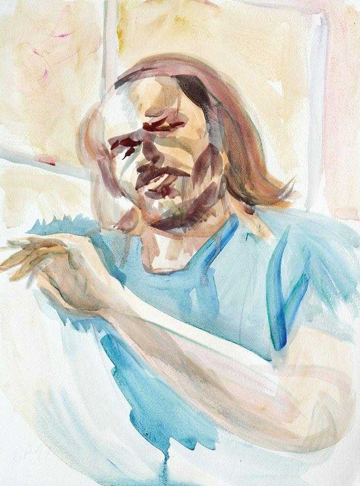 Self Portrait, watercolour on paper