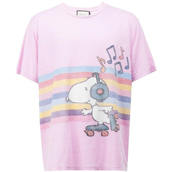 261d17bc Gucci Snoopy and Woodstock rollerskate T-shirt ($490) ❤ liked on Polyvore  featuring men's fashion, men's clothing, men's shirts… | Fashion with  Passion | T ...