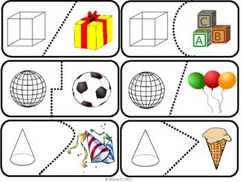 Learning about the four solid shapes can be fun! Here are 20 self checking puzzle pieces of spheres, cubes, cones, and cylinders. I have other Puzzles & Games in my store!