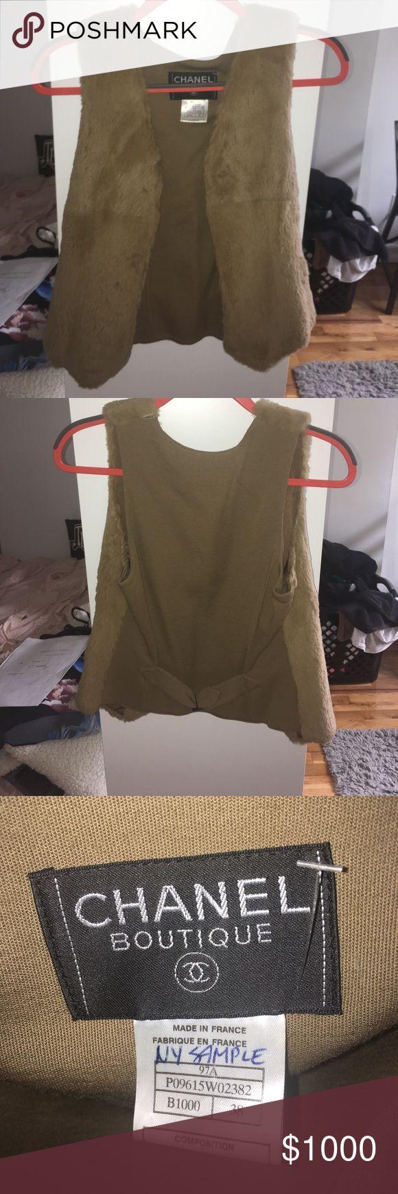 Chanel Rabbit Fur Vest Super soft barely worn Chanel rabbit fur vest CHANEL Jackets & Coats Vests