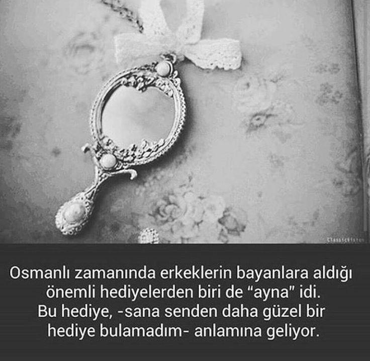 Osmanlı zamanında erkeklerin sevdiceğine aldığı hediyelerden biri de ayna idi... #OsmanlıDevleti