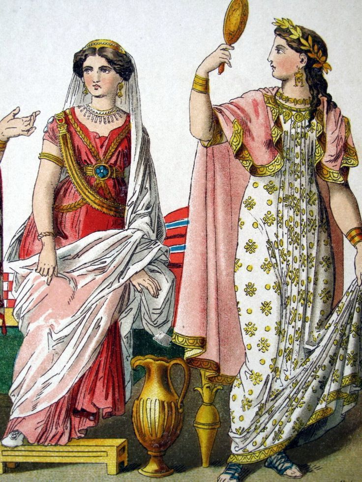 женская одежда древних римлян картинки